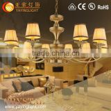 imported luster cloth cover iron chandelier for American market