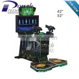 42 inch coin operated Aliens shooting game gun simulator machine