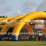 18oz PVC large inflatable paintball arena nets wall inflatable air tent for paintball bunker field