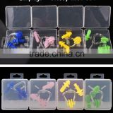 Wholesale swimming equipment light nose clip and ear plugs suits the portable box nose clip earplugs suite