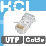 Network Solution RJ45 8P8C Cat5e UTP Gold Plated Modular Plug for Stranded and Solid Cable