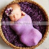 Wholesale Baby Photo Props Newborn Rayon Wraps Stretch Knit Wrap Blanket