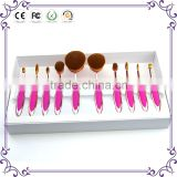 10pcs Soft Oval Toothbrush Makeup Brush Set Foundation brushes Contour concealer brushes