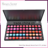 66 colors oem lipstick palette,lipstick holder with mirror waterproof matte Menow kiss proof matte lip gloss