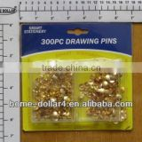 300pcs Silver in color Pins in two plastic box silver bobby pin/Drawing Pins