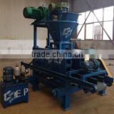 Hydraulic type electrolysis stone powder briquette making machine with screw feeder
