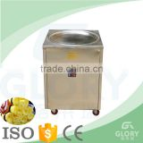 Most Effective Low Nosie Single Flat PanThailand Fried Ice Cream Machine/ Used In Food Truck Fry Ice Cream Machine