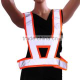 hot sale Hi vis red conspicuity vest warning safety working clothes with pvc reflective taps road safety warning sleevel