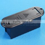 9V-2 Daier 9v battery black case with cover 9v battery holder