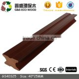 Cheap price pe extrusion wpc solid keel anti-uv wpc joist beam for outdoor decking