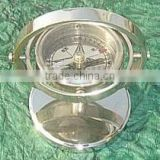 Brass Moon Compass, nautical compass, nautical ship compass, brass nautical compass, wooden brass compass,