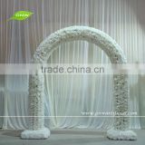 GNW FLA1603003-R Latest design Artificial white rose arch for wedding decorations wholesale china