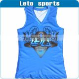 100% polyester sublimated running singlet/wholesale running singlet/cheap running singlet