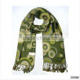New Styliest With High Quality Polyester&Wool Jacquard Woven Scarves For Sale