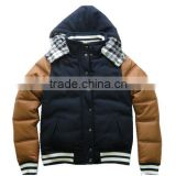 Padding jacket,joint fabric women baseball jacket