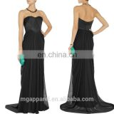 ladies long evening party wear gown sexy off shoulder black long gown dresses, evening gown
