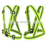 Fancy Adjustable Sports Reflective Safety Vest for Running Suspenders