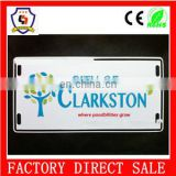 city of clarkston metal custom cute license plate frames for motorcycle and cars wholesale HH-licence plate-27