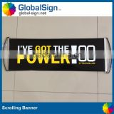 retractable handheld fan banner for sporting events