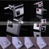 Shirt Cufflinks Wedding Silver Business Mens Wholesale Stainless Steel Crystal