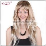 cheap curly long mixed blond wigs