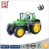 RC green color plastic toy tractor head for kids