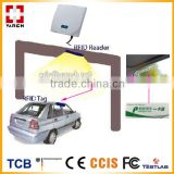 smart automatically parking uhf rfid reader with tamperproof windshield tag