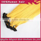Alibaba wholesale European hair 100 keratin U/Nail tip human hair keratin extension strands
