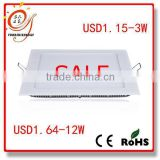 good quality and low price LED lighting square 3w led ultra thin ceiling panel light used in ceiling mounted