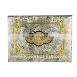 Hot Sale Office Stationery Gold Foil Stamping Logo and Decoration Art Wallpaper Wrapping Arab Honor Certificate Holder