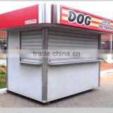 Long time use for outdoor prefabricated coffee shop, prefabricated shops, stainless steel booth