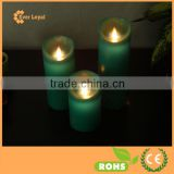 free shipping 5inch Ivory LED flameless Candle luminara Type Pillar Timer Candle
