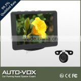 3.5 inch car monitor system with reverse camera
