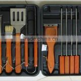 wooden handle barbecue tools brushes set