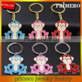 Multicolor Metal Keychain The Monkey Zodiac Couples keychain Bag Buckle Hanging
