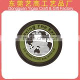 China factory custom 3D company logo PVC rubber patches/silicone patch