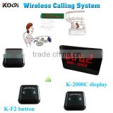 Wireless Table Buzzer Bell System Koqi Factory New Fashion Design Restaurant Service Call Bell Wireless Equipment