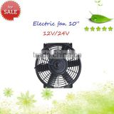 12/24v automobile cooling fan 10inch auto radiator fan with 6 leaf for sale