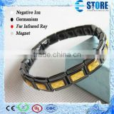 Factory Price Gold Foil Energy Braclet with Germanium Stones/Stainless Steel Energy Bracelet