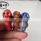 Lapis Lazuli/Yellow Tiger Eye/Red Jasper Skull Rings/Carved Skull Rings