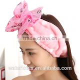 skinny elastic headbands 100% cotton popular stretch hair holders wholesale