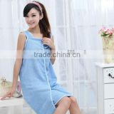 Light Blue Microfiber Material Young Girls Spa Bath Robe