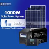 portable solar power generator with bulbs, mobile charger, fan and radio