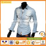 OEM Service Wholesale CN Blouses Mens Casual Slim Fit Shirts                                                                         Quality Choice
