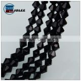 China supplier 6mm manufacture beads black color rondelle bicone beads new arrival crystal wholesale Beads for lighting