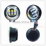 30W 4.5 inch LED Daymaker Auxiliary Passing Projector Lamp Fog Light with Angel Eyes DRL Halo for Harley Davidso-n motorcycle