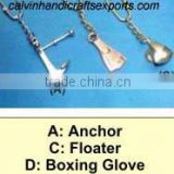 Anchor,floater and boxing glove key chains