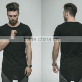 New hot t-shirts/folder sleave t-shirts/v-bottom t-shirts/multi shades t-shirts
