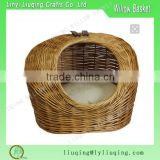 Willow Dog basket Animal basket /pod Wicker Carrier for Small Cat