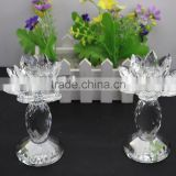 Factory firectly sale European style K9 crystal material 2016New design can be customized size crystal lotus and candle holder